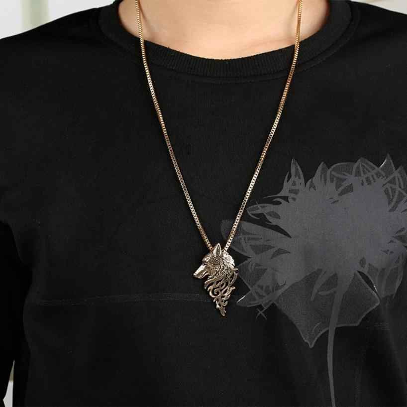 Fancinating Wolf Head Shape Alloy Necklace Choker Ornaments Pendant Fashion Jewelry Gift Necklace Trinket Torque Choker Jewelry