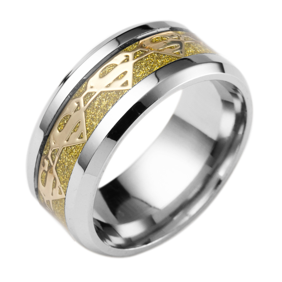 Polish Wedding Rings Female Jewelry Whole Meaeguet Fashion Superman Ring For Men Cool Stainless Steel High