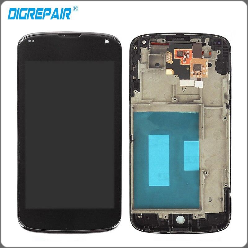 4 5 inch Black For LG Optimus Google Nexus 4 E960 LCD Display Touch Screen Digitizer