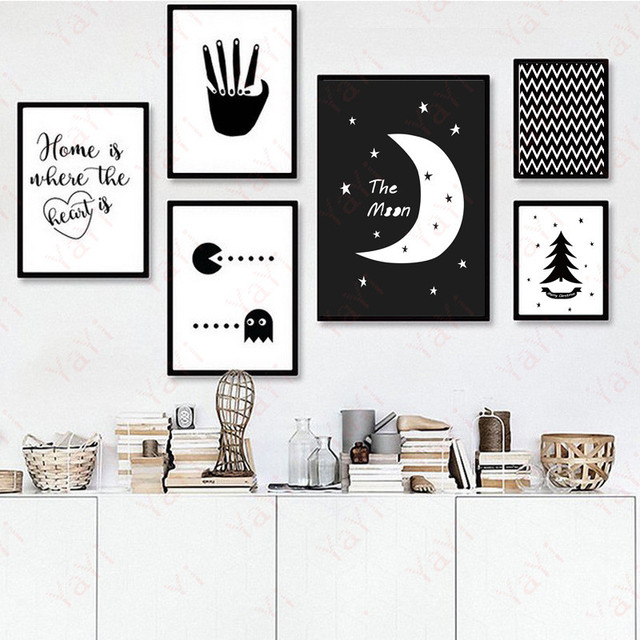 Popular HAOCHU Home fice Decor Painting House Drawing Sketch Backdrop Wall Art Picture Poster Canvas Mural Living  - Best of Wall Posters for Bedroom Picture
