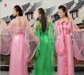 Adulto niño 10 colores chino tradicional hermosa danza dress girls mujeres hanfu antiguos trajes chinos de la dinastía