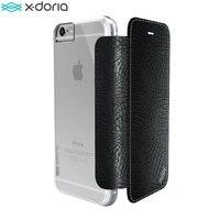 For IPhone 6s 6 Plus X Doria Engage Folio Lux PU Leather Polycarbonate Wallet Case