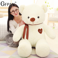 GFPAN Hot Sale 100cm Kawaii Teddy Bear With Tie Soft Stuffed &Plush Love Bear Valentine's Day Gifts For Girlfriend Lowest Price