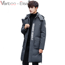 VARBOO_ELSA 2017 men winter coat Hot Sale High Quality Fashion letter print Hooded Coat Outwear thick Warm long parkas men M-4XL