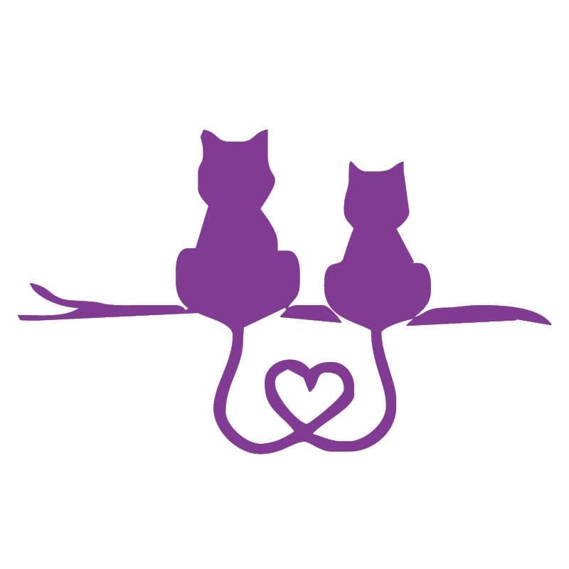 HotMeiNi 3 Sizes 13 Colors Romantic Wonderful Love Animal Pet Cute Cat Couple Lover Car Sticker CARPRIE Laptop Vinyl Decal Gifts