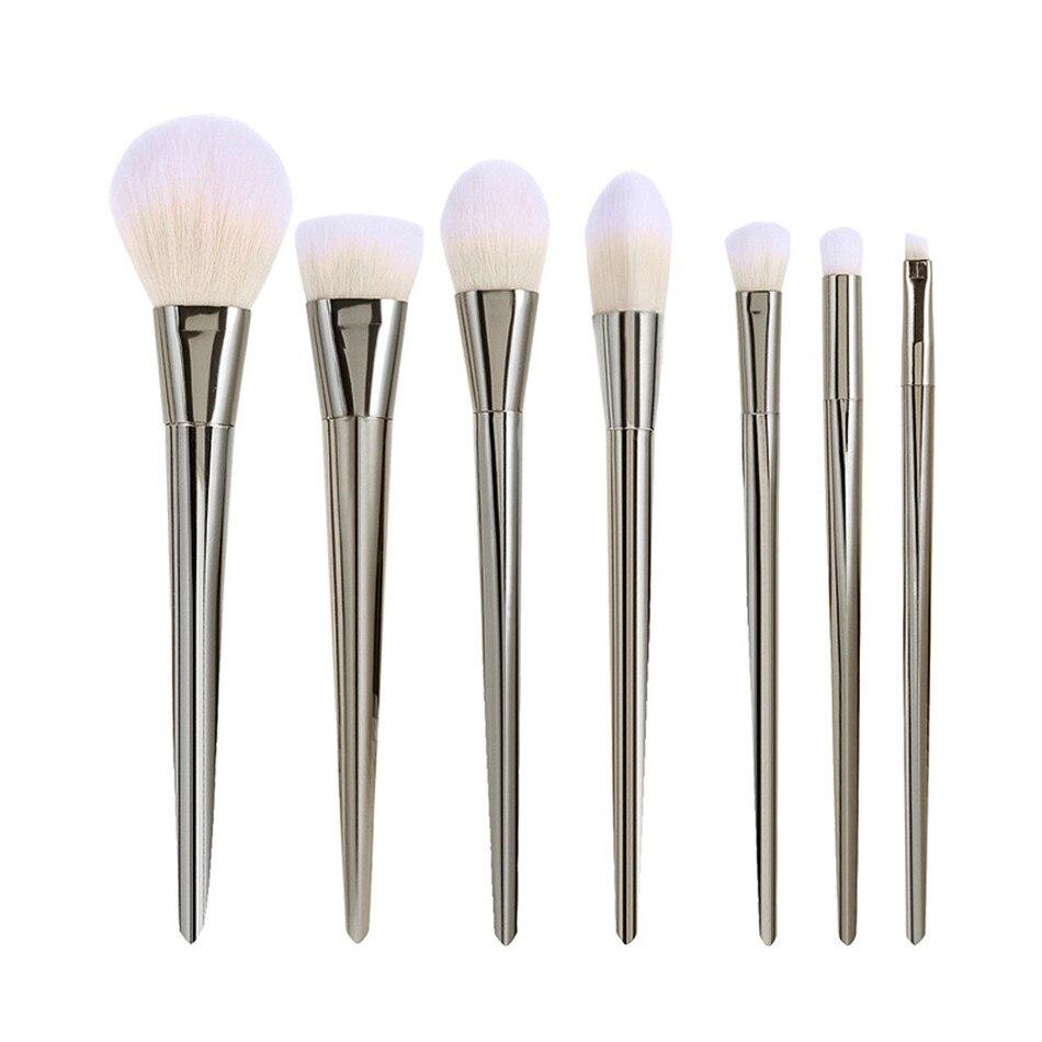 7Pcs Sanwony Limited Special Professional Real Brush Aluminum Alloy Brushes Make Up Brushes Golden rose Makeup Brushes special make 100