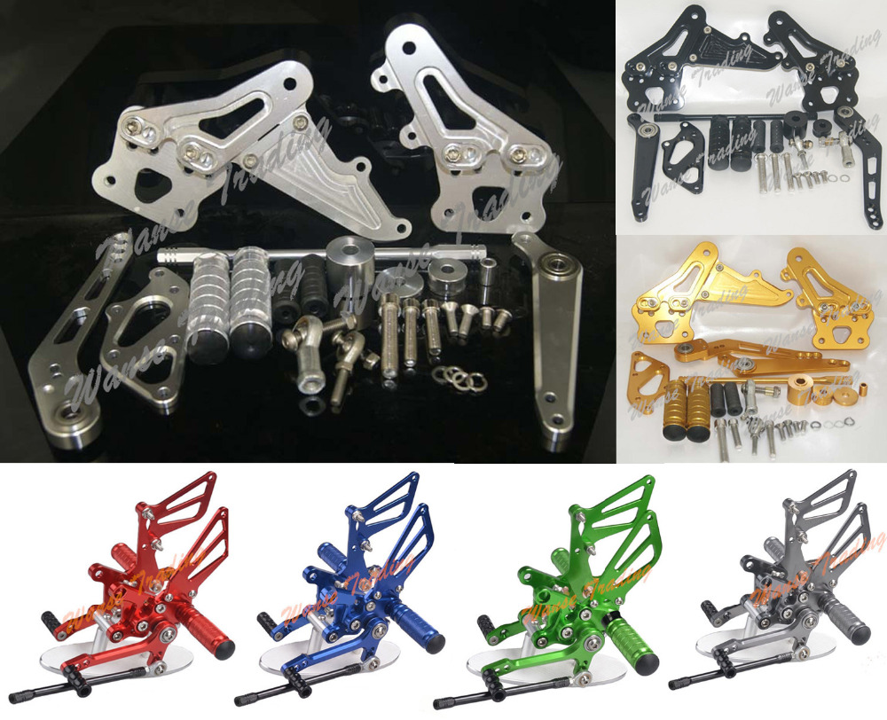 Adjustable Rider Rear Sets Rearset Footrest Foot Rest Pegs For SUZUKI GSXR600 GSXR750 GSXR 600 750 2006 2007 2008 2009 2010 waase cnc adjustable rider rear sets rearset footrest foot rest pegs for suzuki gsxr600 gsxr 600 2000 2001 2002 2003 2004 2005