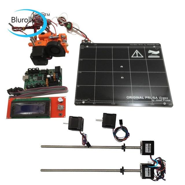 Prusa i3 mk2 mk2s 3d printer DIY kit with Mini-Rambo 1.3a board 2004 LCD pcb heated bed, hot end kit, stepper motors