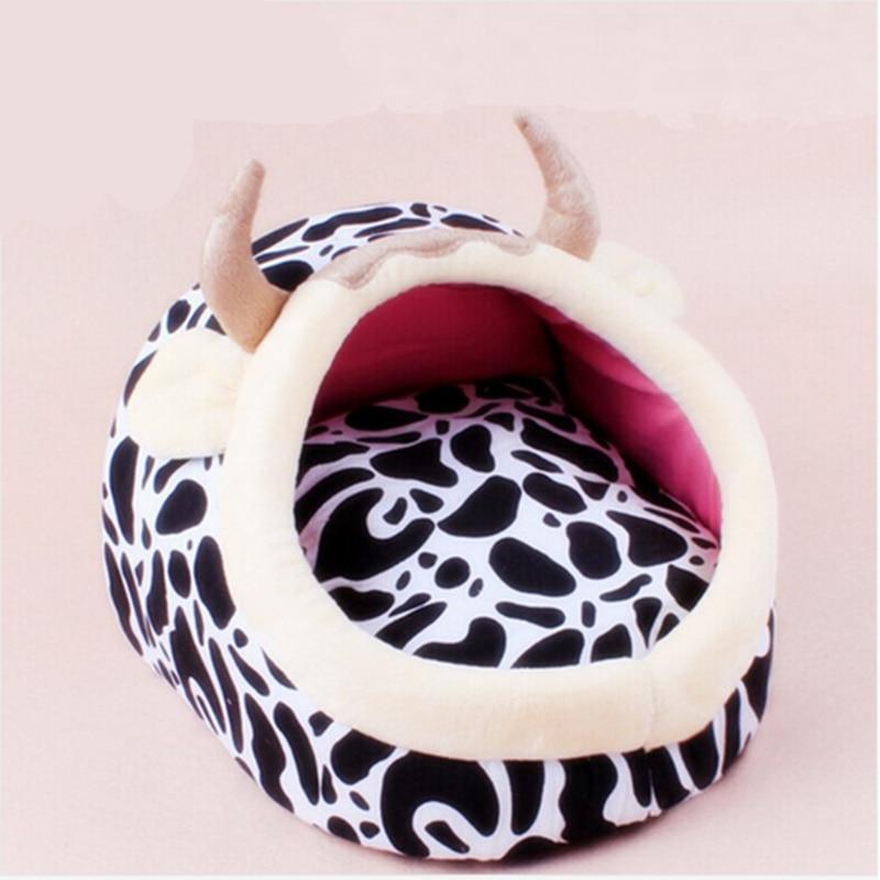 Új őrült tehén kutya ágy kisállat kennel kutya puha mat fleece - Pet termékek