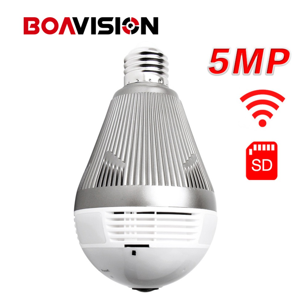 960P 1080P 3MP 5MP Wireless 3D VR WIFI IP Camera Bulb Light Panoramic FishEye 180/360 Degree CCTV Home Security Mini Wi-Fi Cam