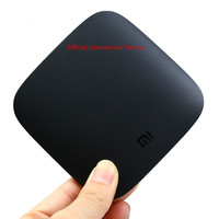 Official International Version Xiaomi Mi Android TV Box Quad core Cortex A53 4K H.265 VP9 Profile 2 Decoding Dual band WiFi DTS