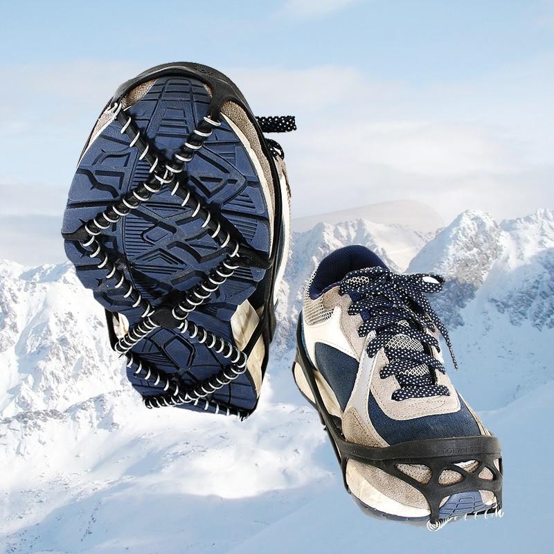 1 Paar Eis Schnee Greifer Outdoor Unisex Non-slip Elastische Schuhe Stiefel Spikes Grips Für Walking Wandern Auf Schnee Und Eis Produkte Werden Ohne EinschräNkungen Verkauft