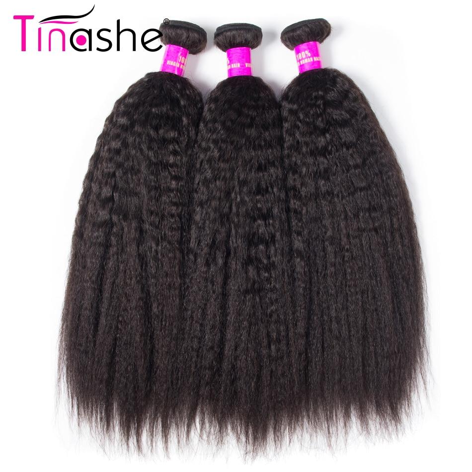 Tinashe Dei Capelli Peruviana Dei Capelli Bundles Capelli Umani di Remy 3 Bundles Colore Naturale 10-28 Pollici Per La Vendita Diritto Crespo capelli