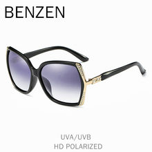 BENZEN Polarized Sunglasses Women Luxury Rhinestone Female Sun Glasses For Driving UV 400 Ladies Shades With Case 6570(China)
