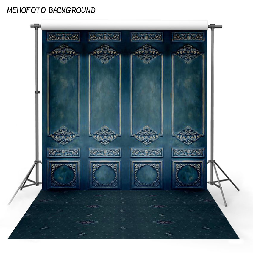Vinyl And Polyester Photography Backdrops Blue Wall
