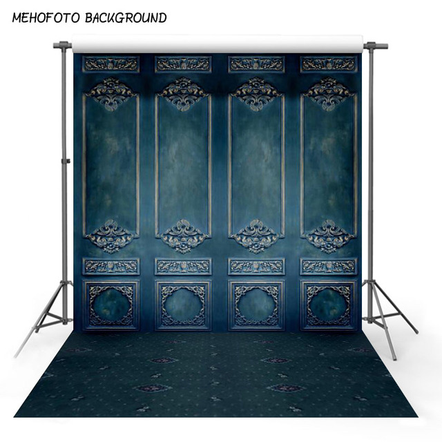 Vinyl and Polyester Photography Backdrops Blue Wall Background Computer Printed Wedding Backdrops for Photo Studio L-487