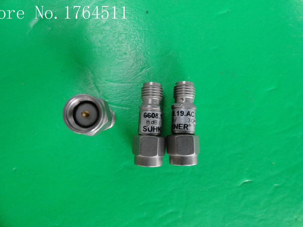 [BELLA] H+S 6608.19.AC DC-3GHz 8dB 2W SMA Coaxial Fixed Attenuator  --5PCS/LOT