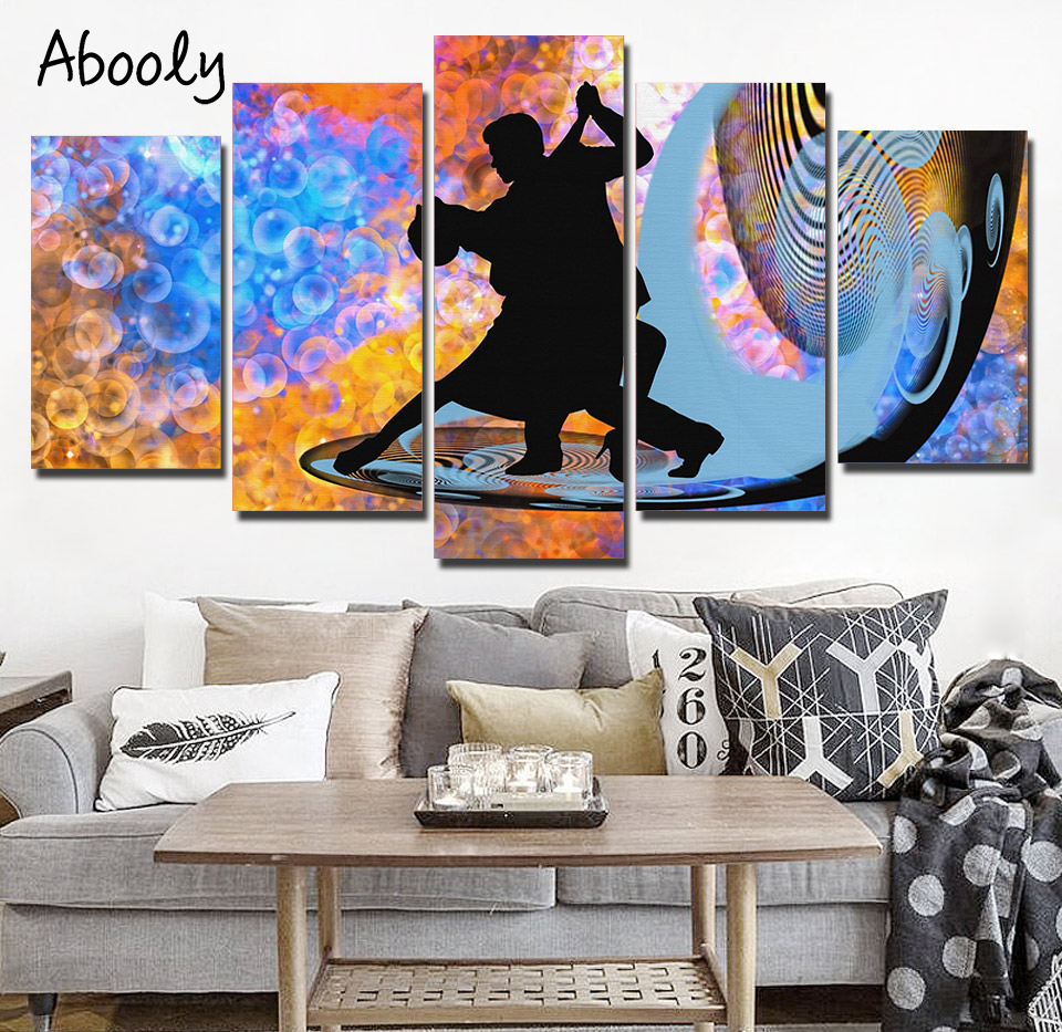 5Piece Wall Art Fantastic Tango Dance Posters Prints Abstract Wall Decor Painting Home Decor Nordic Picture Oil Painting