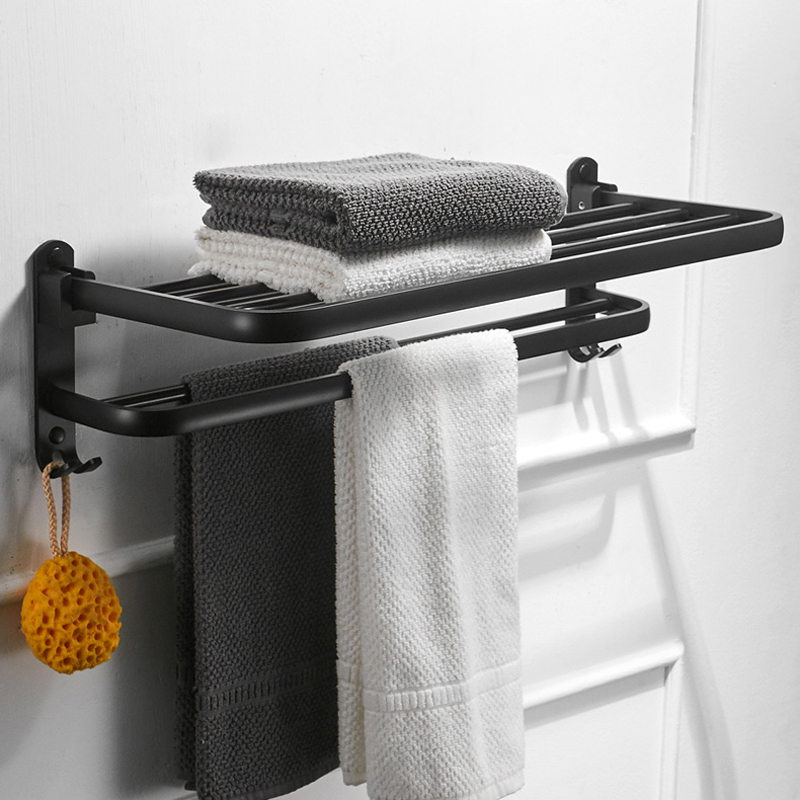 Aluminum Bathroom Wall Mounted Towel Holder Swivel Towel Shelf Hangers Towel Bars Oil Rubbed Bronze Black тетрадь на пружине printio тетрадь аниме
