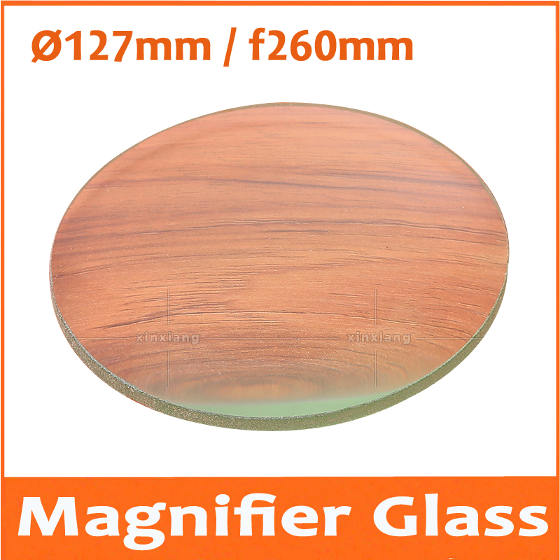 3X <font><b>127mm</b></font> Optical Glass lenses magnifying glass lenses Magnifier Double convex lens Cosmetic instrument lenses focal length 260mm image