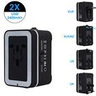 World Universal Travel Adapter With 2 USB Ports Power Convertor Wall Plug Power