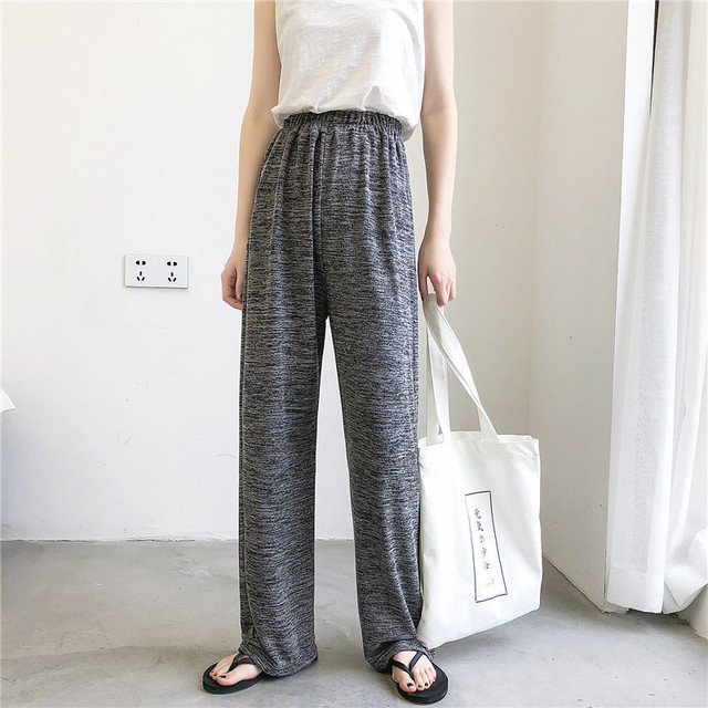 Thin Section 2019 The Trend Of Summer Solid Color To Mop The Floor Directly Cuffless Trousers Easy Student Leisure Time Pants