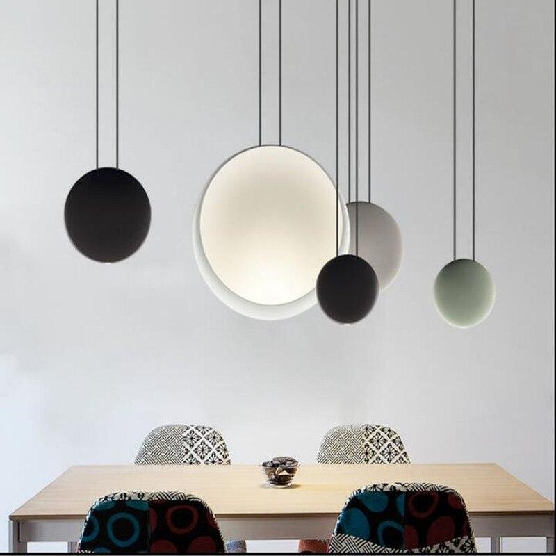 Nordic Criativo Led Lustre de Alumínio Biscuit Pós-moderno Bar Restaurante Quarto Luz Decorativa Luzes Cosmos Frete Grátis
