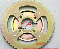 STARPAD For After 428 60 tooth chain plate 60 tooth modification to increase motorcycle sprocket tooth plate