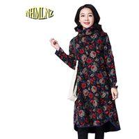 2017 Autumn Winter Women New Casual Elegant Fashion Dress Large Size Comfortable Plus Velvet High Quality