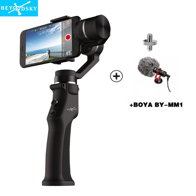 BeyondSky Eyemind 3-Axis Brushless Handheld Gimbal Stabilizer for Smartphone Samsung S8 for gopro action camera pk osmo 2