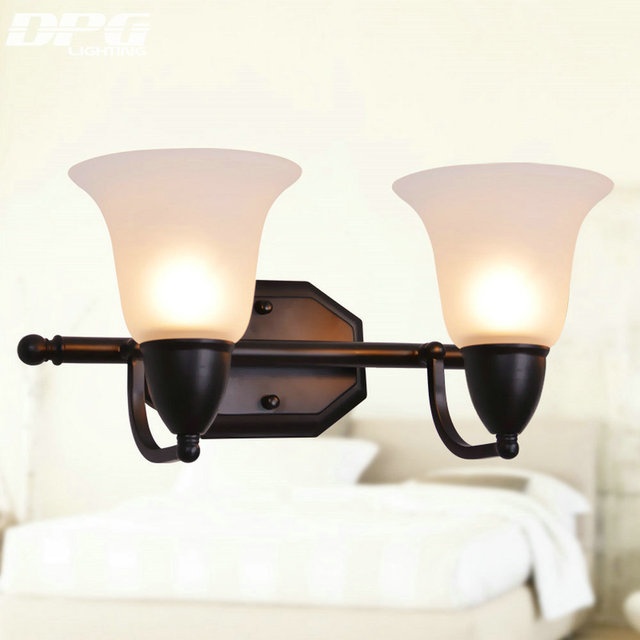 110v 220v Led Modern Art decoration Iron wall lamp wall light indoor lighting wall sconces with white shade for bedroom