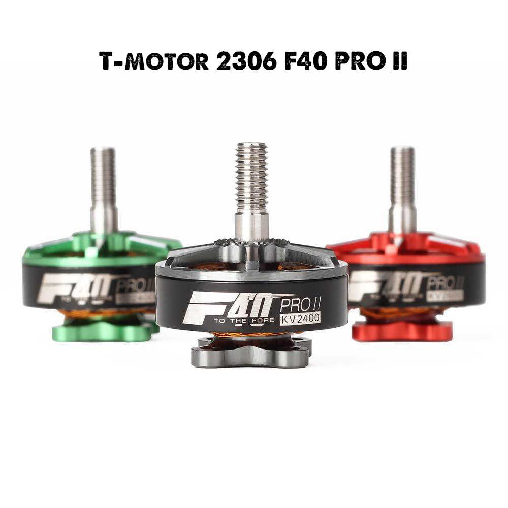 New arrival T-motor F40 PRO II 1600KV 2400KV 2600KV 3-4S Brushless Motor for RC Multirotor FPV Racing Drone Black Green Red