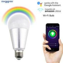 FRENKEVER Smart Bulb 10W RGB Warm Bulbs LED Light Timing Function WIFI APP Remote Control with Alexa & Google Home FK-A21N