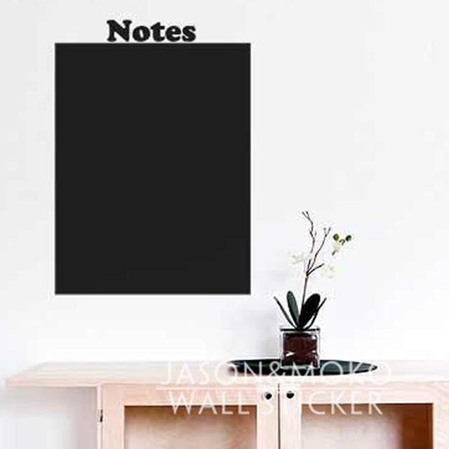 Notes Menu Rectangled Chalkboard Blackboard Chalk Pen List Kitchen Office Wallpaper Wall Stickers Home Decor Black