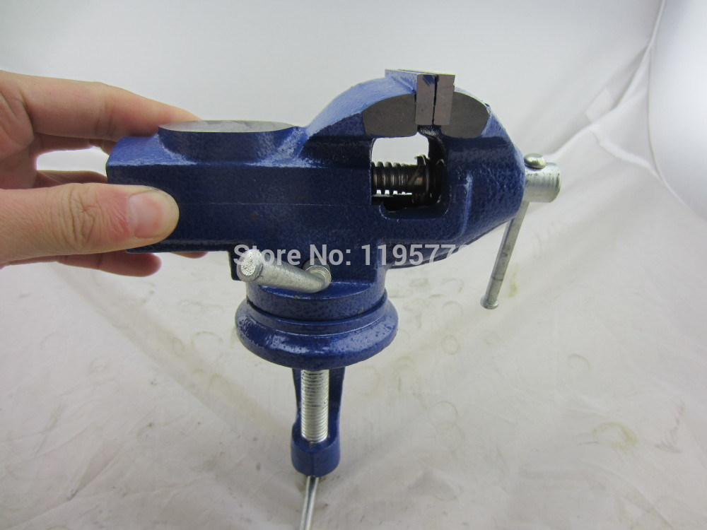 HOT sale 360 Degree Quick Adjustable bench vise Table Vice 50 mm jaw opening, milling vise, good quality, low price