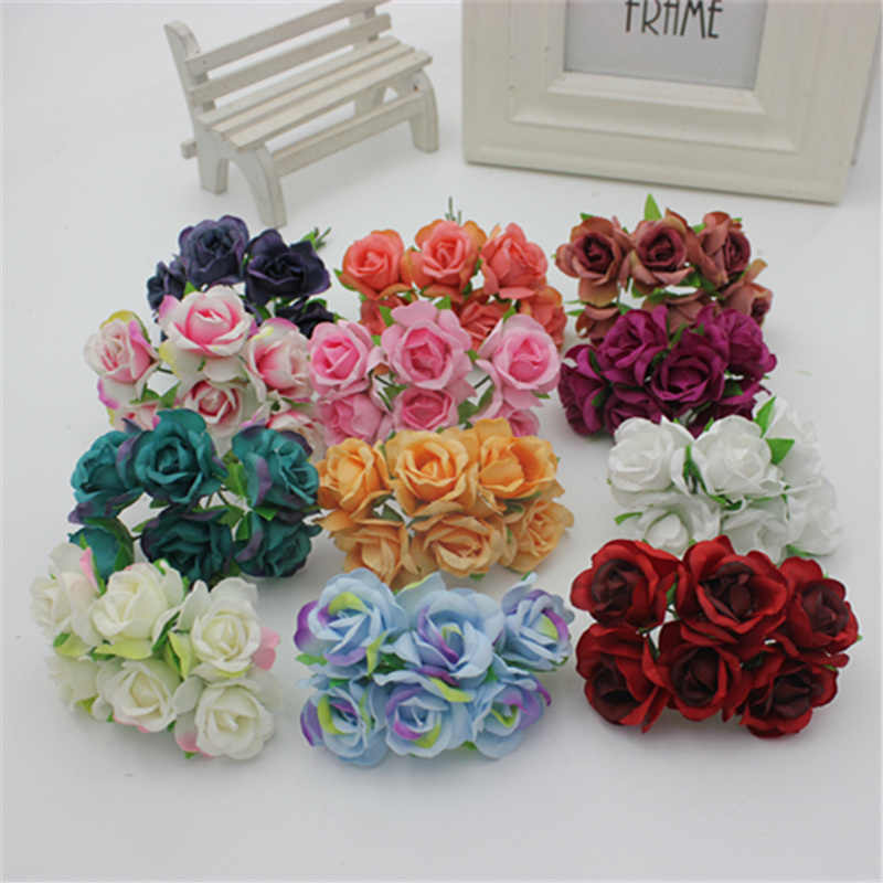 The new DIY headdress handmade simulation flowers garland material connotation of small balsam a bunch of 6