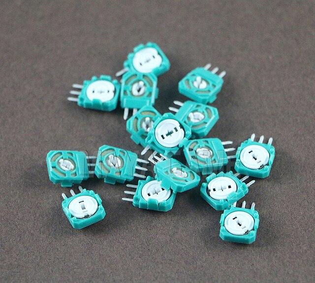 100 pçs/lote 3d analógico joystick micro interruptor eixo resistores substituição para playstation 4 ps4 xbox um controlador polegar