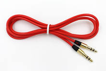 RED 3.5mm Audio Cable Car AUX-In Cord for Philips GoGear 2GB 4GB 8GB MP3 Player For Philips Fidelio HTL2101A Soundbar Speaker(China)