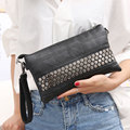 2016 Brand New Women's Clutch Handbags Purses PU Leather Wallets Rivet Zipper Bags Women Clutches Luxury Handbags Bolsa Feminina