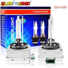 цена на One Pair 12V 35W D1S D3S Xenon HID Bulb 4300k 5000k 6000k 8000k Car Headlight Bulb HID Xenon Lamp Auto Car Light Headlamp Kit