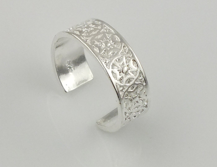 buy wholesale silver toe rings designs from china