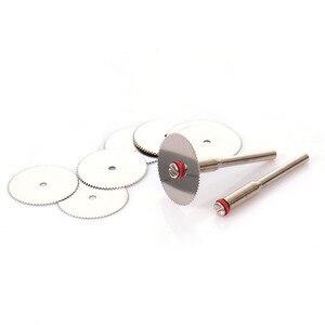 Image 5 - Disco de corte de aço inoxidável, ferramenta abrasiva com 2 mandril, mini broca rotativa com 10 peças e 22mm acessórios de ferramentas