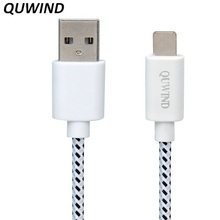 QUWIND 1M 2M 8pin Compatible with Charger Charging Transfer Data Universal Cable for iPhone 7 6 6Plus 5 5S 5C iPad Air Mini