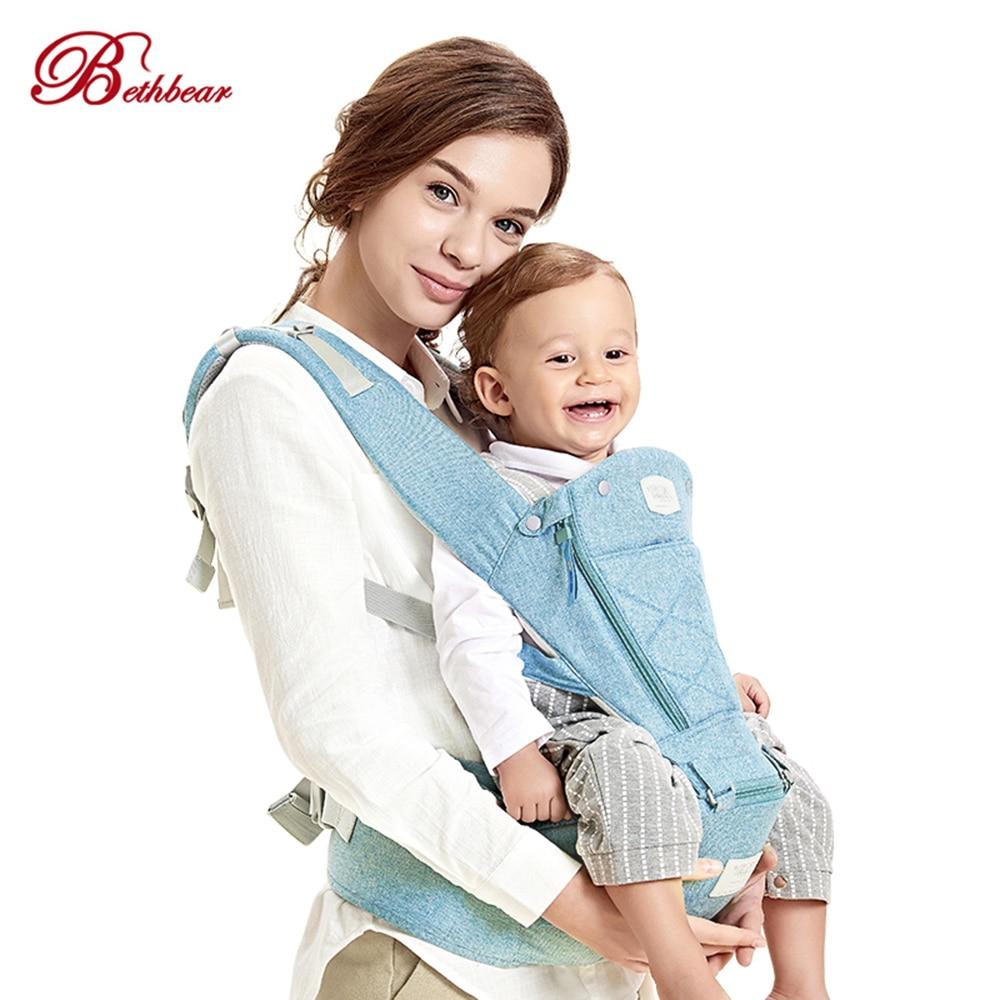 Bethbear Multifunction Baby Carrier Ergonomic Backpack Hipseat Newborn Baby Infant Comfortable Toddler Carrier Sling Backpack multi function comfortable baby carrier sling red grey