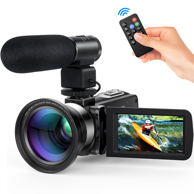 "Andoer FHD 1080P Home Portable Digital Video Camera Camecorder Infrared Night Vision 3.0"" Rotating Screen 16X Digital Zoom 24MP"