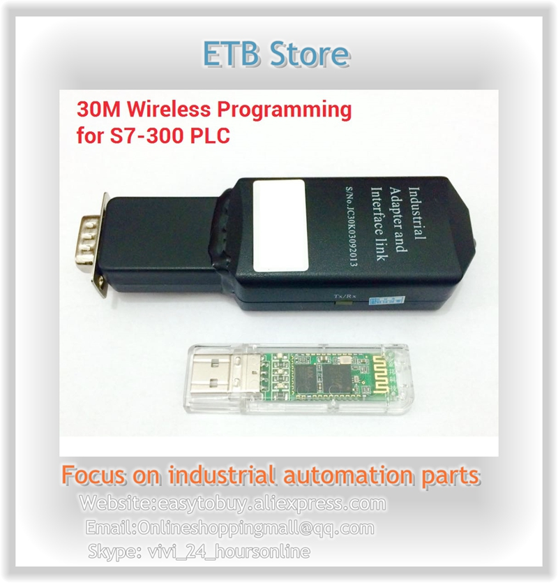 S7-300/400 PLC 30M Wireless Bluetooth MPI Programming Cable replace USB-MPI 6ES7 972-0CB20-0XA0