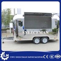 Новый дизайн зеркало обеденный продовольственный автомобиль грузовик уличный прицеп для торговли кофе