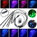 6Pcs RGB LED Universal 18 Color Motorcycle Glow Flexible LED Neon Strip Light Lamp W/ Remote Controller For Chopper Frame