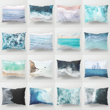 Elife Nordic Ocean Beach Polyester Cotton Linen decorative pillow shams in case throw Cushion Cover For Sofa car 30x50cm