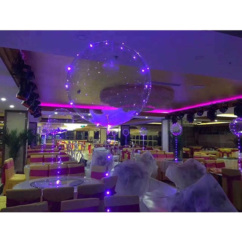 Balões de led para decoração de festa, balões de led para decoração de festas, casamentos, festas, 3m, transparente, 18 polegada 24 polegadas
